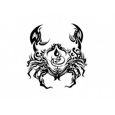 Cancer Symbol Designs Zodiac Symbol Fake Temporary Water Transfer