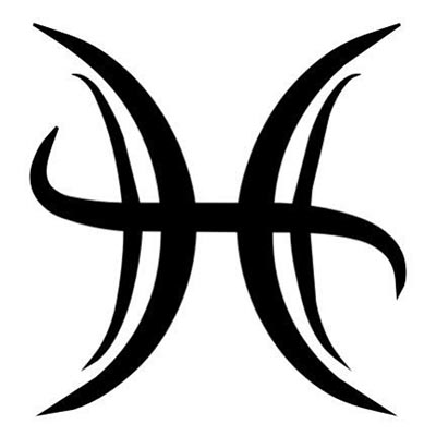 New Large Black Pisces Zodiac Tattoo Stencil Fake Temporary Water Transfer Tattoo Stickers NO.10078