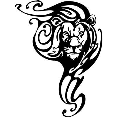 Black ink leo Fake Temporary Water Transfer Tattoo Stickers NO.10090