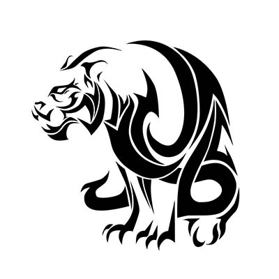 Tribal Roaring Leo Design Fake Temporary Water Transfer Tattoo Stickers NO.10097