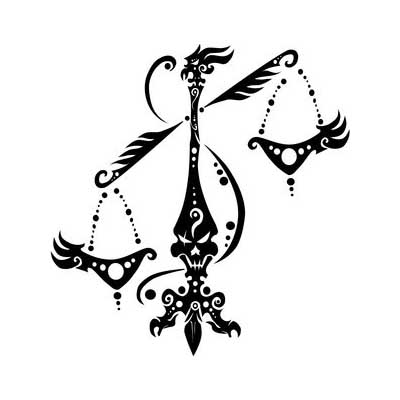 Libra design Fake Temporary Water Transfer Tattoo Stickers NO.10105