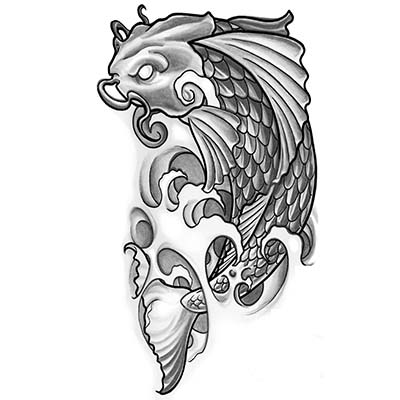 New Ink Fish Pisces On Arm Fake Temporary Water Transfer Tattoo Stickers NO.10120