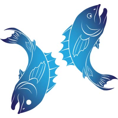 Pisces designs Fake Temporary Water Transfer Tattoo Stickers NO.10130