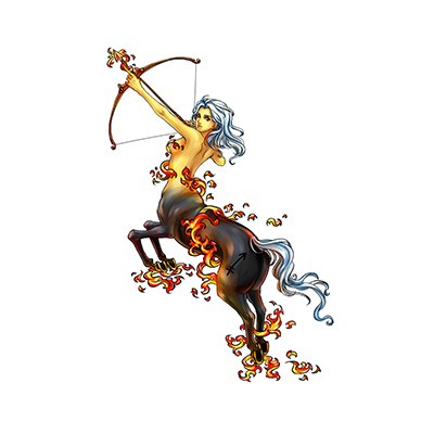Sagittarius commission designs Fake Temporary Water Transfer Tattoo Stickers NO.10136