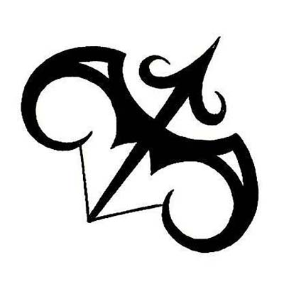 Zodiac Symbol Sagittarius Design Fake Temporary Water Transfer Tattoo Stickers NO.10144