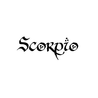 Design horoscope names scorpio Fake Temporary Water Transfer Tattoo Stickers NO.10165