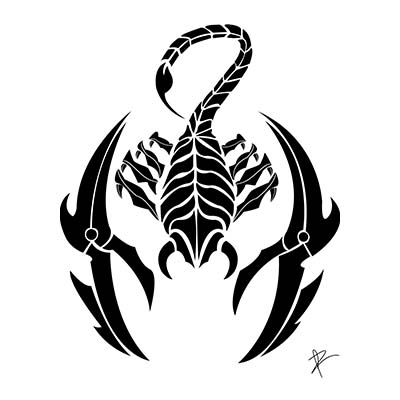 Latest black nk tribal scorpio design Fake Temporary Water Transfer Tattoo Stickers NO.10157