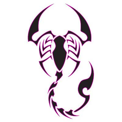 Scorpio designs Fake Temporary Water Transfer Tattoo Stickers NO.10173