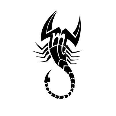 Scorpio designs Fake Temporary Water Transfer Tattoo Stickers NO.10175