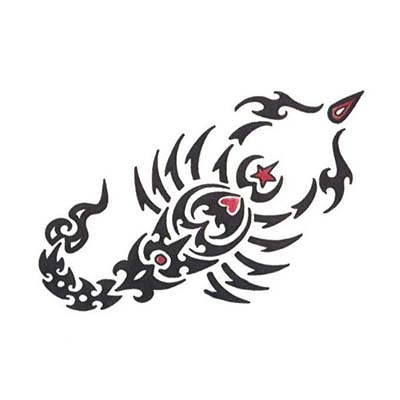 Scorpio designs art of Fake Temporary Water Transfer Tattoo Stickers NO.10159
