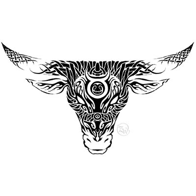 Taurus Sketc designs Fake Temporary Water Transfer Tattoo Stickers NO.10181