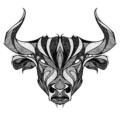 Taurus designs Fake Temporary Water Transfer Tattoo Stickers NO.10187