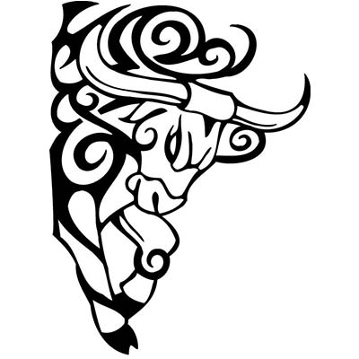 Taurus designs Fake Temporary Water Transfer Tattoo Stickers NO.10189