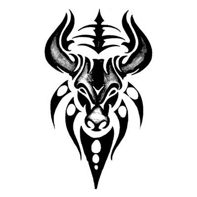 Taurus designs Fake Temporary Water Transfer Tattoo Stickers NO.10190