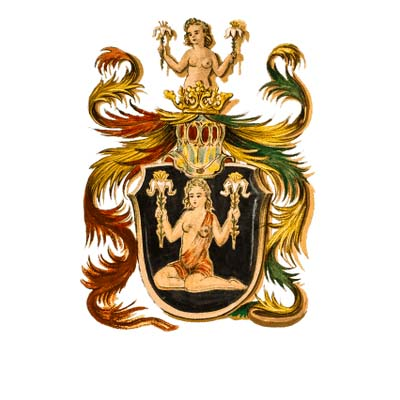 Coat Of Arms Zodiac Sign Virgo designs Fake Temporary Water Transfer Tattoo Stickers NO.10192