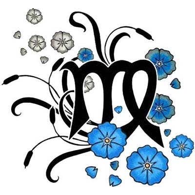 Virgo designs Fake Temporary Water Transfer Tattoo Stickers NO.10199