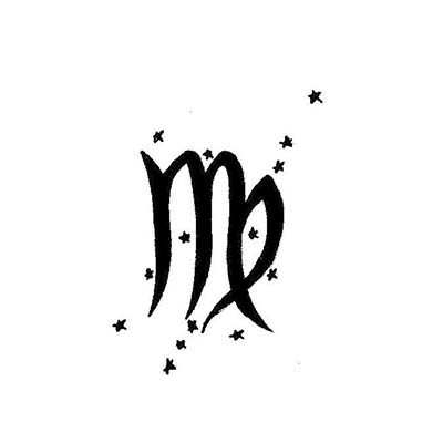 Virgo designs Fake Temporary Water Transfer Tattoo Stickers NO.10204