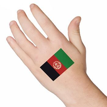 Afghanistan Flag Design Water Transfer Temporary Tattoo(fake Tattoo) Stickers NO.12724