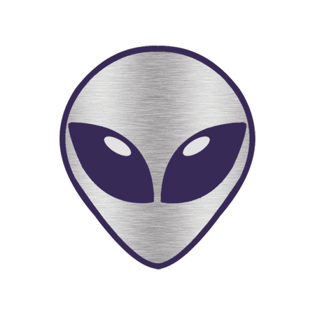 Chrome Alien Head Design Water Transfer Temporary Tattoo(fake Tattoo) Stickers NO.12445