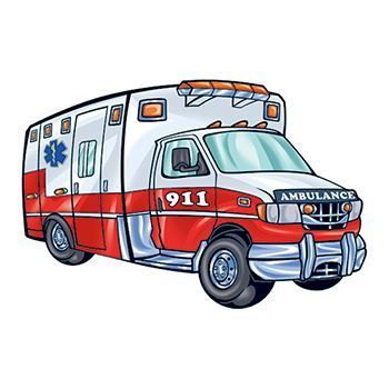 Ambulance Design Water Transfer Temporary Tattoo(fake Tattoo) Stickers NO.13867