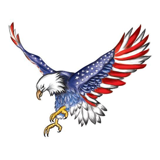 American Flag Eagle Design Water Transfer Temporary Tattoo(fake Tattoo) Stickers NO.12055