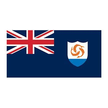 Anguilla Flag Design Water Transfer Temporary Tattoo(fake Tattoo) Stickers NO.12703