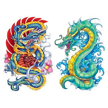 Apalala Dragons Design Water Transfer Temporary Tattoo(fake Tattoo) Stickers NO.11905