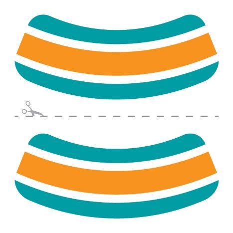 Aqua, Orange & White Eye Black Design Water Transfer Temporary Tattoo(fake Tattoo) Stickers NO.14622