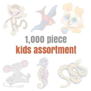 Assorteds for Kids (1000 tattoos) Design Water Transfer Temporary Tattoo(fake Tattoo) Stickers NO.14153