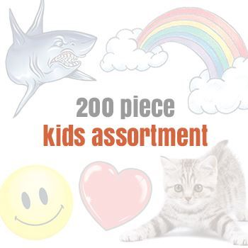 Assorteds for Kids (200 tattoos) Design Water Transfer Temporary Tattoo(fake Tattoo) Stickers NO.14150
