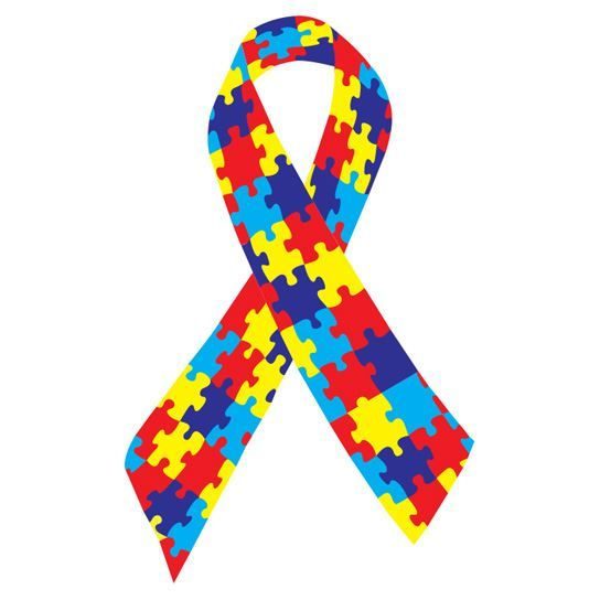 Autism Awareness Ribbon Design Water Transfer Temporary Tattoo(fake Tattoo) Stickers NO.12969