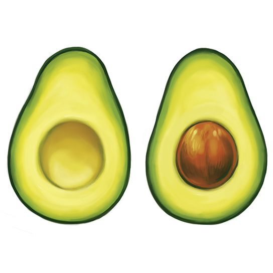 Avocado Couples Design Water Transfer Temporary Tattoo(fake Tattoo) Stickers NO.13461