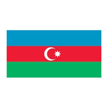 Azerbaijan Flag Design Water Transfer Temporary Tattoo(fake Tattoo) Stickers NO.11917