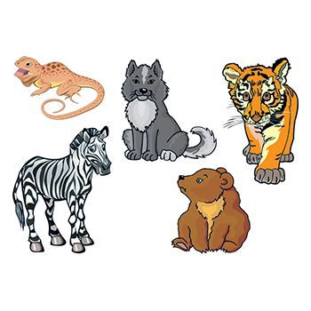 Baby Animals Design Water Transfer Temporary Tattoo(fake Tattoo) Stickers NO.13505