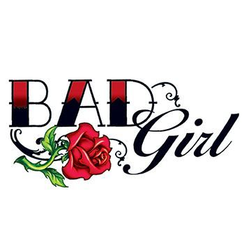 Bad Girl Rose Design Water Transfer Temporary Tattoo(fake Tattoo) Stickers NO.13220