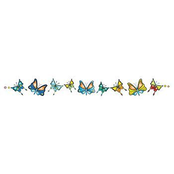 Band of Butterflies Design Water Transfer Temporary Tattoo(fake Tattoo) Stickers NO.12312