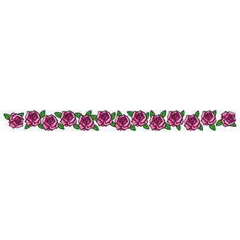 Band of Pink Roses Design Water Transfer Temporary Tattoo(fake Tattoo) Stickers NO.12308
