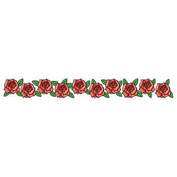 Band of Roses Design Water Transfer Temporary Tattoo(fake Tattoo) Stickers NO.12306