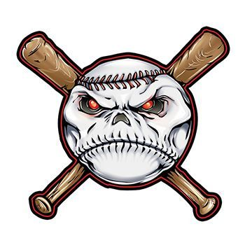 Baseball and Bats Design Water Transfer Temporary Tattoo(fake Tattoo) Stickers NO.15053