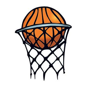 Basketball in Hoop Design Water Transfer Temporary Tattoo(fake Tattoo) Stickers NO.12949
