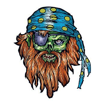 Bearded Pirate Design Water Transfer Temporary Tattoo(fake Tattoo) Stickers NO.13228
