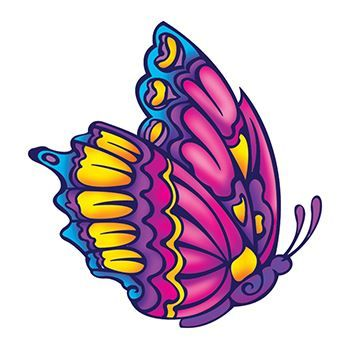 Beautiful Butterfly Design Water Transfer Temporary Tattoo(fake Tattoo) Stickers NO.13875