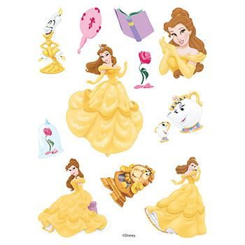 Beauty and the Beast Assortment ofs Design Water Transfer Temporary Tattoo(fake Tattoo) Stickers NO.13857