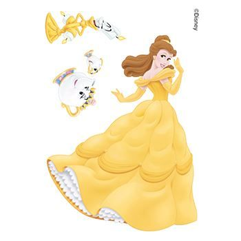 Beauty and the Beast: Belle and Friendss Design Water Transfer Temporary Tattoo(fake Tattoo) Stickers NO.13966