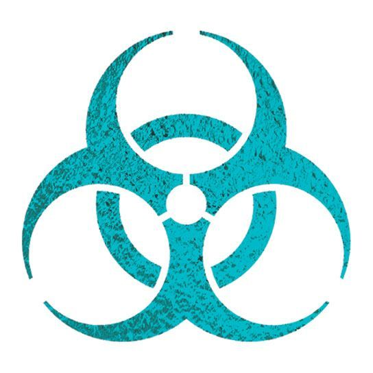 Metallic Biohazard Design Water Transfer Temporary Tattoo(fake Tattoo) Stickers NO.14233