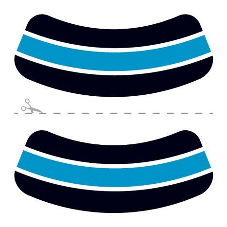 Black, Blue & White Eye Black Design Water Transfer Temporary Tattoo(fake Tattoo) Stickers NO.14640