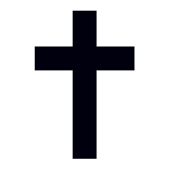 Small Black Cross Design Water Transfer Temporary Tattoo(fake Tattoo) Stickers NO.12928