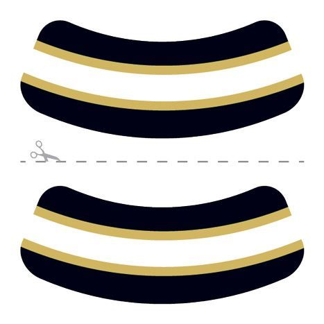Black, Gold & White Eye Black Design Water Transfer Temporary Tattoo(fake Tattoo) Stickers NO.14644