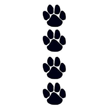 Black Paw Prints Fundraisers Design Water Transfer Temporary Tattoo(fake Tattoo) Stickers NO.12973