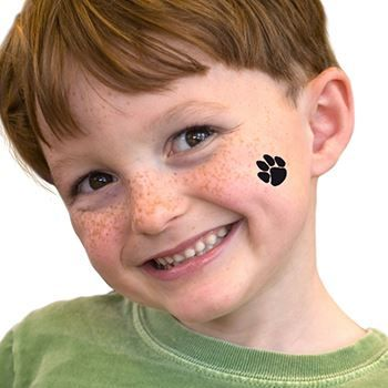 Black Paw Prints Fundraisers Design Water Transfer Temporary Tattoo(fake Tattoo) Stickers NO.14881